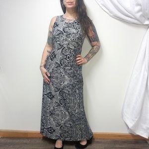SOMA Super Soft Paisley Toile Maxi Dress / Nightie